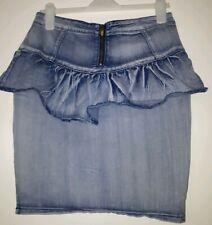 Apple Bottoms Acid Washed  Denim Blue Skirt Size Large. Used.