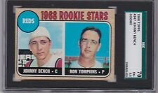 1968 Topps # 247 Johnny Bench Rookie  SGC 70