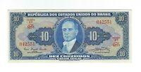 10 Cruzeiros Brasilien 1961 C019 / P.167a - Brazil Banknote