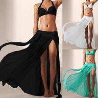 Women's Long Summer Beach Dress Bikini Cover Up Swimwear Sarong Wrap Skirt Kit