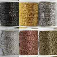 1/5/100M Gold/Silver Plated Cable Open Link Iron Metal Chain Findings DIY 3x4mm