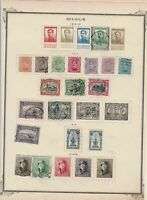 belgium  stamps on 2 album page ref 13436