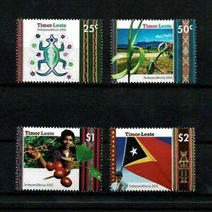 Independent State of East Timor-Leste 2002 MNH full set Scott #352-5 4 stamps