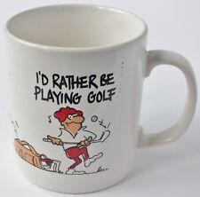 Golfing Ceramic Character Mug. Vgc. Uk Dispatch