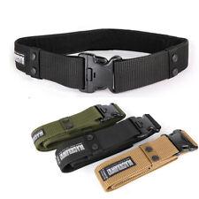 US Tactical Belt Wide Nylon Sport Combat Soldier Waistband Military Waist Belts