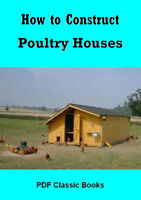 How to Construct Poultry Hen House Chicken Coop Plans Book on CD