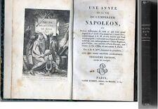 C1 NAPOLEON Cent Jours UNE ANNEE DE LA VIE DE L EMPEREUR NAPOLEON 1815