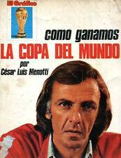 SOCCER WORLD CUP 1978 Menotti RARE Book Argentina