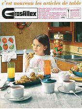 PUBLICITE  1965   GROSFILLEX    les articles de table