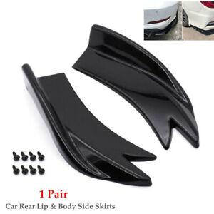 Universal 1 Pair Car Bumper Spoiler Rear Lip Canard Diffuser Wrap Angle Shovel