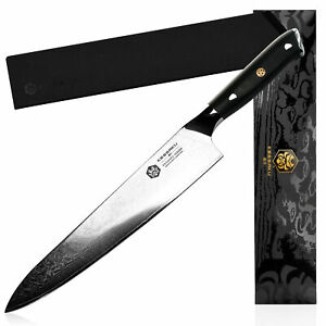 Kessaku Chef Knife Dynasty 67-Layer Japanese Damascus Stainless Steel, 9.5-Inch