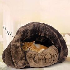 Puppy Pet Dog Cat Kitten Fleece Soft Warm Cave Bed Sleeping Bag Nest Mat Kennel