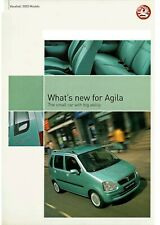 VAUXHALL AGILA 2003 MODELS HIGHLIGHTS BROCHURE. VM0203611 10.02 [UK]