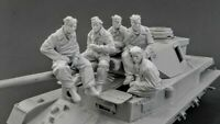 1/35 Resin WWII German 5 Tankers at Rest unpainted unassembled CK034