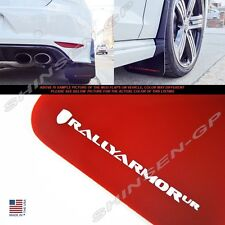 """Rally Armor UR """"Red Mud Flaps with White Color Logo"""" for 2015+ VW MKVII Golf R"""