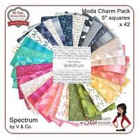 Moda Charm Pack Spectrum Prism Ombre Modern quilt fabrics 80s retro mid-century