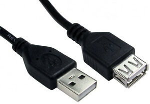 USB Extension Cable Lead A Male Plug To Female Socket Extention High Speed 2.0