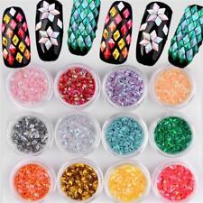 12pcs/set 3d Glitter Flakes Diamond Sequins Nail Art Stickers Manicure Decor