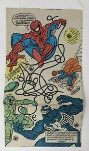 1995 Vintage SPIDER-MAN McDonald's Happy Meal Paper Bag