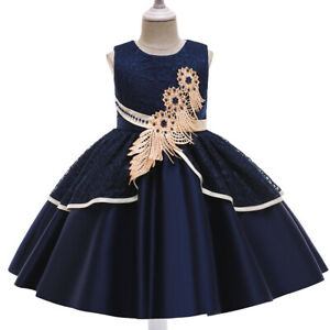 Girls' dresses, forged cloth embroidered skirts, catwalk costumes, princess dres