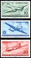 EBS East Germany DDR 1956 Deutsche Lufthansa - Civil Air - Michel 513-515 MNH**