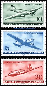 EBS East Germany DDR 1956 Deutsche Lufthansa - Civil Air - Michel 513-515 MNH**