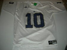 Notre Dame Fightin' Irish #10 Road White sz18/20 Jersey CUSTOMIZE NAME for $15