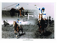 SIGNED GRAND NATIONAL ALDANITI BOB CHAMPION BIG PHOTO AUTOGRAPH COA HORSE RACING