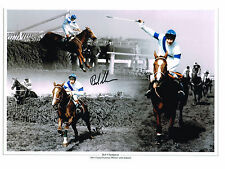 SIGNED GRAND NATIONAL ALDANITI BOB CHAMPION BIG PHOTO AUTOGRAPH COA HORSE RACING