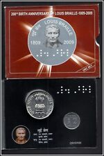 Rs 100/- UNC COIN ISSUED BY RBI LOUIS BRAILLE BIRTH ANNIVERSARY