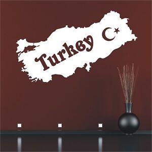 Landkarte Wandtattoo  Türkei Turkey Türkiye Karte Europa Wandaufkleber Bild2