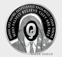 2019 1oz Q ANON PROOF INFOINDCOM #12 999 SILVER SHIELD GROUP SSG 777