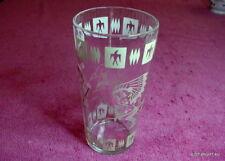 """1950's Hazel Atlas (Pink Indian) 5 3/4"""" GLASS TUMBLER EUC"""