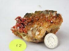 12) Red Vanadinite on Barite / Baryte Morocco Crystal High Grade - Morroco 104g