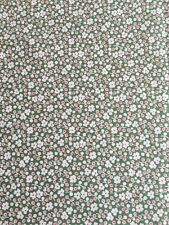Grandma Hattie's - New Reproduction Feedsack Quilting fabric 1 Yard Premium Gree
