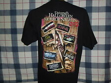 UNIVERSAL STUDIOS HALLOWEEN HORROR NIGHTS ONCE INSIDE NO WAY OUT 2012 T SHIRT XL