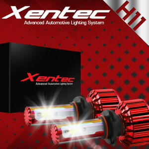 Xentec LED 80W 9000LM 6000K 6K White 3-Sided All in One Kit Headlight - H11