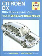 CITROEN BX 1.4 1.6 1.9 PETROL ( INCL GTI & 16V ) 1983 - 1994 OWNER REPAIR MANUAL