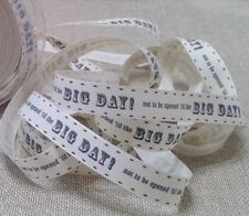 Not To Be Opened BIG DAY! 15mm Ribbon Ivory Berisfords Wedding 1M - 20M Roll