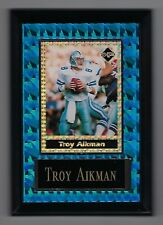 "Vintage 1994-1995 6.5"" x 4.5"" Card Plaque Troy Aikman Cowboys Investor Focus #3"