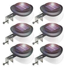 4Stk.Solar Dachrinnenleuchte 25LEDs Zaunleuchte Aussen Wandleuchte Wegeleuchte