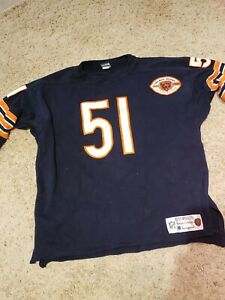 Vintage Champion Chicago Bears NFL Dick Butkus #51 Throwback Jersey Mens Size XL