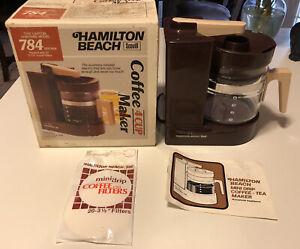 Vintage 1977 Coffee Maker Hamilton Beach Mini Drip Scovill 4 Cup 784 Brown U.S.A