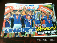 chesterfield team group league 2 winners A4 colour picture