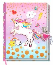 Unicorn Diary with Lock Lockable Diary Children Pink Journal Note Book NEW