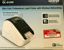 Brother QL-810W Direct Thermal Printer - Monochrome - Fast Label Printer WiFi