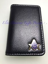 Masonic Master Mason, Business, Credit Card or Dues Card Holder. B/Gold