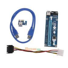 USB3.0 Pcie PCI-E Express 1x bis 16x Extender Riser Kartenadapter Netzkabel 60cm