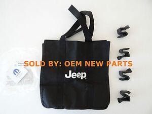2014-2016 Jeep Cherokee & Grand Cherokee Bag Holder Kit 4 Clips & Grocery Bag