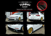 Bodykit Frontspoiler Diffusor Schweller ABS für VW Golf 7 GTI TCR Schwarz Glanz